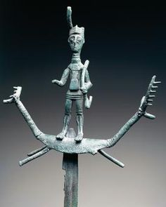 View top-quality stock photos of Archer Wearing Horned Hat Placed On Votive Sword Surmounted On Deershaped Protomes Bronze Nuragic Civilization. Find premium, high-resolution stock photography at Getty Images. Travel Images, Bronze Age, Sardinia, Ancient Art, Culture, Science And Technology, Archaeology, Royalty Free Images, Sword