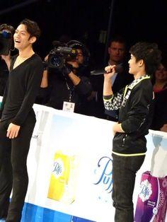 With Takahiko Kozuka      Skate America 2013