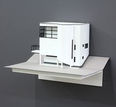 Architectural model of József Fisher House on Szépvölgyi Avenue, Budapest, 1935, by Katarina Burin, 2012