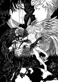 Devilman Crybaby Fanart Akira Fudo x Ryo Asuka Devilman Crybaby, Manga Anime, Manga Art, Anime Art, Akira Kurusu, Manga Covers, Manga Pages, Neon Genesis Evangelion, Cry Baby