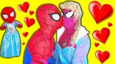 Pink SPIDERGIRL Frozen Elsa & Spiderman - Spidergirl Elsa Kisses Spiderm...
