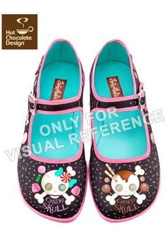 c3ecdd2136f9 Candy Skull Chocolaticas Hot Chocolate Design Flat Shoes