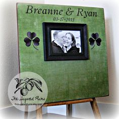 Irish Wedding Guest Book Alternative, Wedding Picture Frame, Signature Custom Guestbook 20X20 100 to 150 Guests. $85.00, via Etsy.