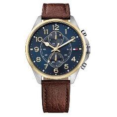 Relógio Tommy Hilfiger Masculino Couro Marrom - 1791275