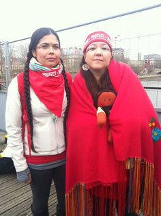 """""""No more fracking. No more fossil fuel extraction. We are the red line. It's simple - #Keepitintheground #COP21"""" Tweet by IndigenousEnviroNet @IENearth Love this picture!"""