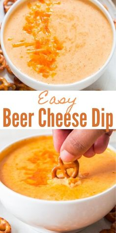 A quick and easy to make party dip recipe that is insanely delicious! Creamy cheesy beer cheese dip recipe is great for parties. This pub favorite dip is great to be served with warm soft pretzels. Beer Cheese, Hot Cheese Dips, Easy Cheese, Cheese Sauce, Pretzel Dip Recipes, Cheese Dip Recipes, Party Dip Recipes, Party Dips, Warm Appetizers