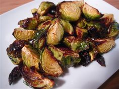 Roasted Brussels Sprouts with Bacon and Garlic - Made these with Easter dinner.  Added  1/4 of a red onion, chopped, and cut the olive oil with a little bit of the bacon grease.  Tasty!  Will definitely make it again,