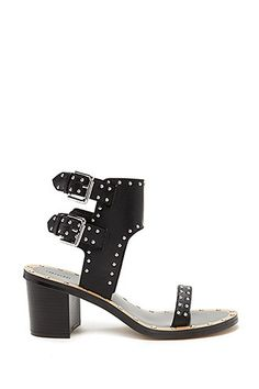 Studded Faux Leather Sandals