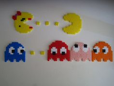 Pacman Mrs. Pacman Perler Beads $12. from PerlHama Craze