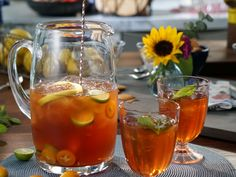 Honey Citrus Southern Iced Tea recipe from Valerie's Home Cooking via Food Network