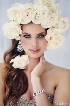 White roses in her hair ... erikasternlove ♥