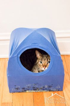 No Sew Cat Tent from a T shirt