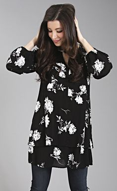 """lush living floral tunic--get it for 15% off + Free shipping w/code """"RiffraffRepLauren"""" at checkout on ShopRiffraff.com!"""