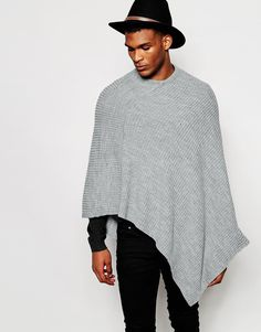 ASOS Knitted Ribbed Poncho