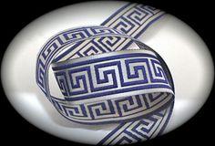 Woven Jacquard Ribbon Greek Key Trim 1 x 3 yards by LesBonRibbon Silver and Navy Greek Key, Velvet Ribbon, Yards, Navy, Silver, Blue Bedrooms, Ship, Create, Fabric