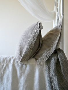 Natural softened linen pillow case by HouseOfBalticLinen on Etsy, $55.00