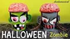 Manualidades para Halloween. Zombie cerebro
