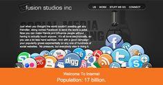 Social Media Marketing page, Fusion Studios. How To Influence People, Social Media Marketing, Studios, Website, Design