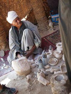 stone carver, luxor, egypt