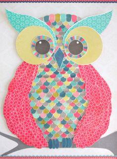 """Hoot Hoot"" -3D paper cut framed wall art by roxyoxy creations. www.roxyoxy.com.au"