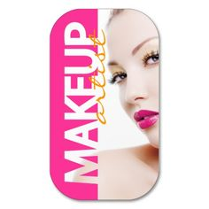 BOLD CUSTOMIZABLE MAKEUP ARTIST BUSINESS CARD.