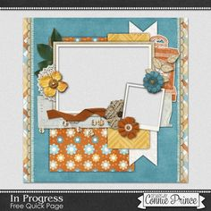 FREE In Progress Quick Page Freebie  from Connie Prince