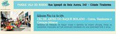 """PARQUE VILA DO RODEIO Rua Igarapé da Bela Aurora, 342 - Cidade Tiradentes Sábado, Dia 04 as 15 horas CIA DE ARTES DO BAQUE BOLADO - Cores, Tambores e Crenças [Música] Tambores de Maracatu de Baque Virado e Djembes de origem africana, ritmos do Candomblé, misturados ao Funk americano resultando em uma sonoridade forte e...<br /><a class=""""more-link"""" href=""""https://catracalivre.com.br/geral/agenda/barato/cultura-nos-parques-parque-vila-do-rodeio/"""">Continue lendo »</a>"""