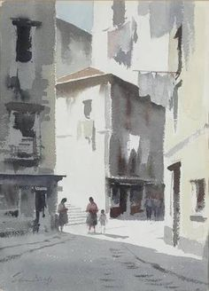Image result for portugal watercolor streets
