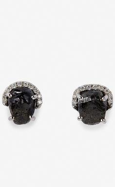 Diamond in the Rough Rough Diamond Earrings