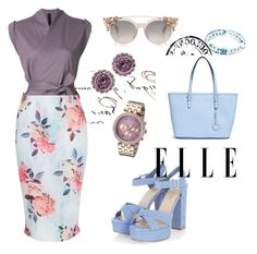 """""""Elle Girl"""" by fancy-chic ❤ liked on Polyvore featuring forme d'expression, New Look, Michael Kors, Juicy Couture and Ted Baker"""