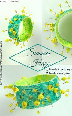 Summer Haze - Free polymer clay tutorial by Beads Academy / Mihaela Georgescu