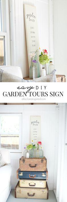 DIY Garden Tours Sign | She Shed Decor