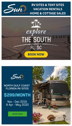 Rv Sites, Email Marketing, Tent, Coast, Florida, Cottage, Vacation, Explore, Store