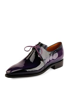 Arca Patent Leather Derby Shoe, Purple / Corthay.
