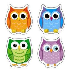 owl classroom theme   Complete your colorful owl classroom theme with these colorful shape ...