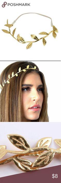 Claire's Golden headband Bronzing Leaves Headband Women Fashion Hairbands Ladies Elastic Headbands For Girl Hair Accessories Never been open  Never been used Claire's Accessories Hair Accessories