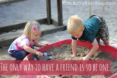 Easy ideas for teaching kids about being a good friend