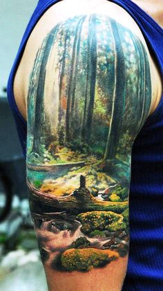 Amazing color tattoo by Den Yakovlev