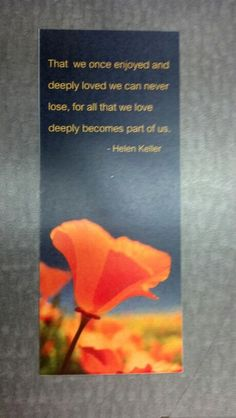 Bookmark (back) for funeral.