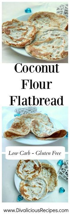 A coconut flour flat bread that works with either a sweet or savory filling. It is very flexible so can be rolled up and used in enchiladas.