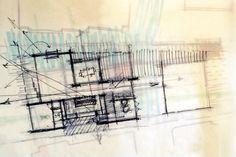Laguna Beach floor plan sketch | spatial adjacencies #floorplan  #drawing
