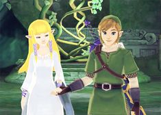 Zelda and Link look so perfect for each other! They really should put more obvious romance in The Legend of Zelda Games!