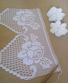 Crochet Borders, Crochet Chart, Filet Crochet, Easy Crochet, Crochet Curtains, Crochet Doilies, Crochet Lace, Handmade Greetings, Greeting Cards Handmade