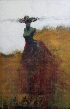 Cathy Hegman , Land Lady, acrylic on board, 32x26