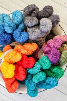 We love these gorgeously saturated Aesir Mini Skein Sets by A Hundred Ravens. Ombre Yarn, Yarn Braids, Yarn Cake, Yarn Stash, Yarn Projects, Ravens, Indian Art, So Little Time, Confessions