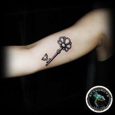 Key tattoo is womderful idea for ypur new small tattoo.