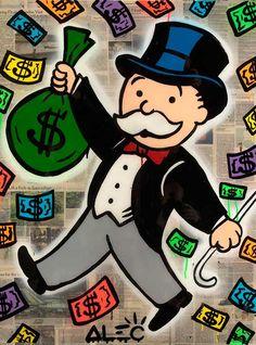 Alec Monopoly - Money Magnet - Eden Fine Art Gallery