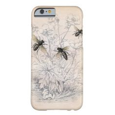 Vintage Honey Bee Art Barely There iPhone 6 Case
