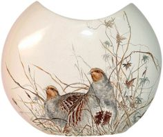 Sologne Half Moon Vase from Gien in Yardley, PA from Pink Daisy