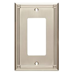 Lowes Wall Plates Adorable Brainerd Upton 2Gang Satin Nickel Double Decorator Wall Plate Decorating Inspiration